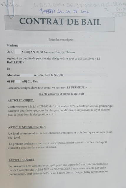 Contrat De Location Appartement Pdf